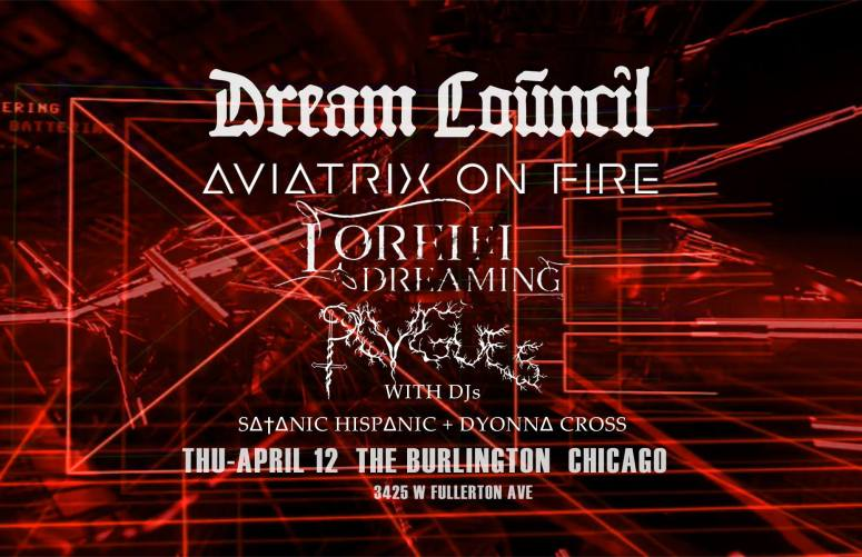 aviatrix on fire - dream council show - burlington 04 12 18